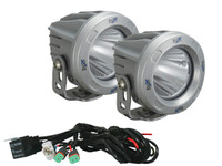 "Optimus 3"" Round Silver 10W LEDs 60° Flood Beam (Kit, 2 Lights)"