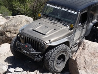Duraflex Heat Reduction Hood (For Hi-Fenders) on a Jeep LJ
