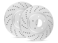R1 Carbon Geomet Series Jeep JK Drilled Brake Rotors