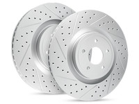 R1 Carbon Geomet Series Jeep JK Drilled & Slotted Brake Rotors