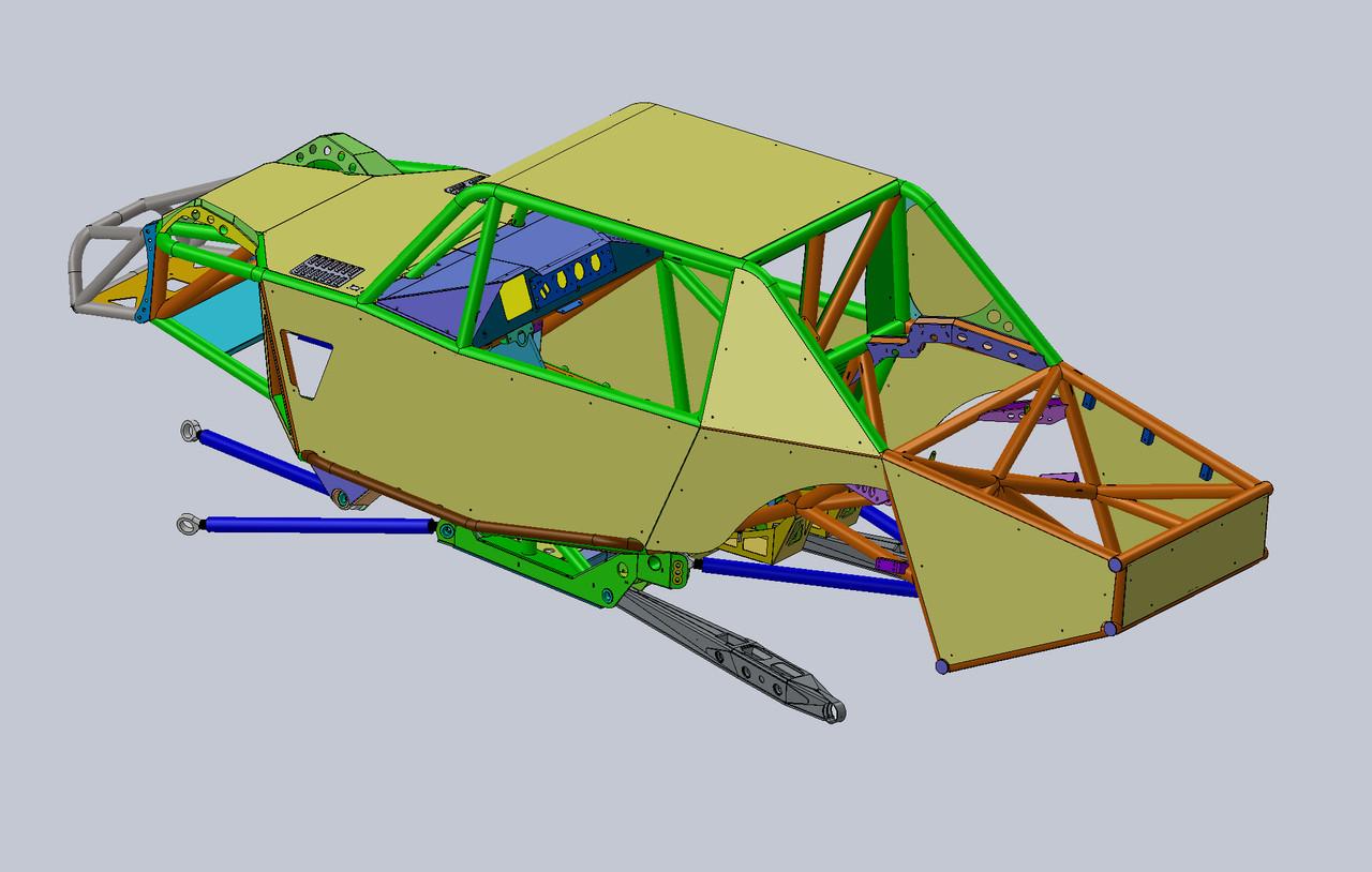 100% CAD designed 4400 Class car