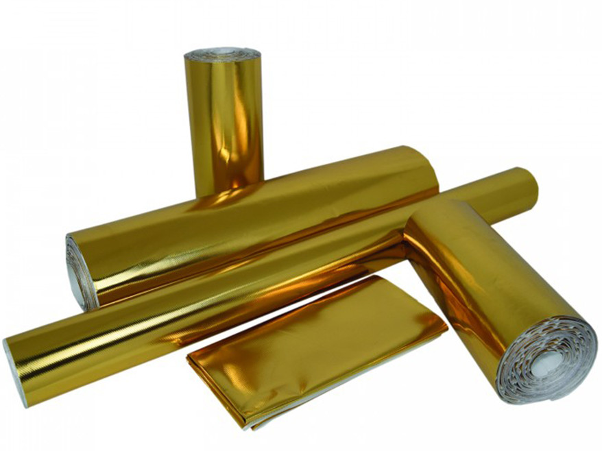 Cold-Gold Shield™ - Adhesive Backed Gold Heat Shield (Multiple Sizes)