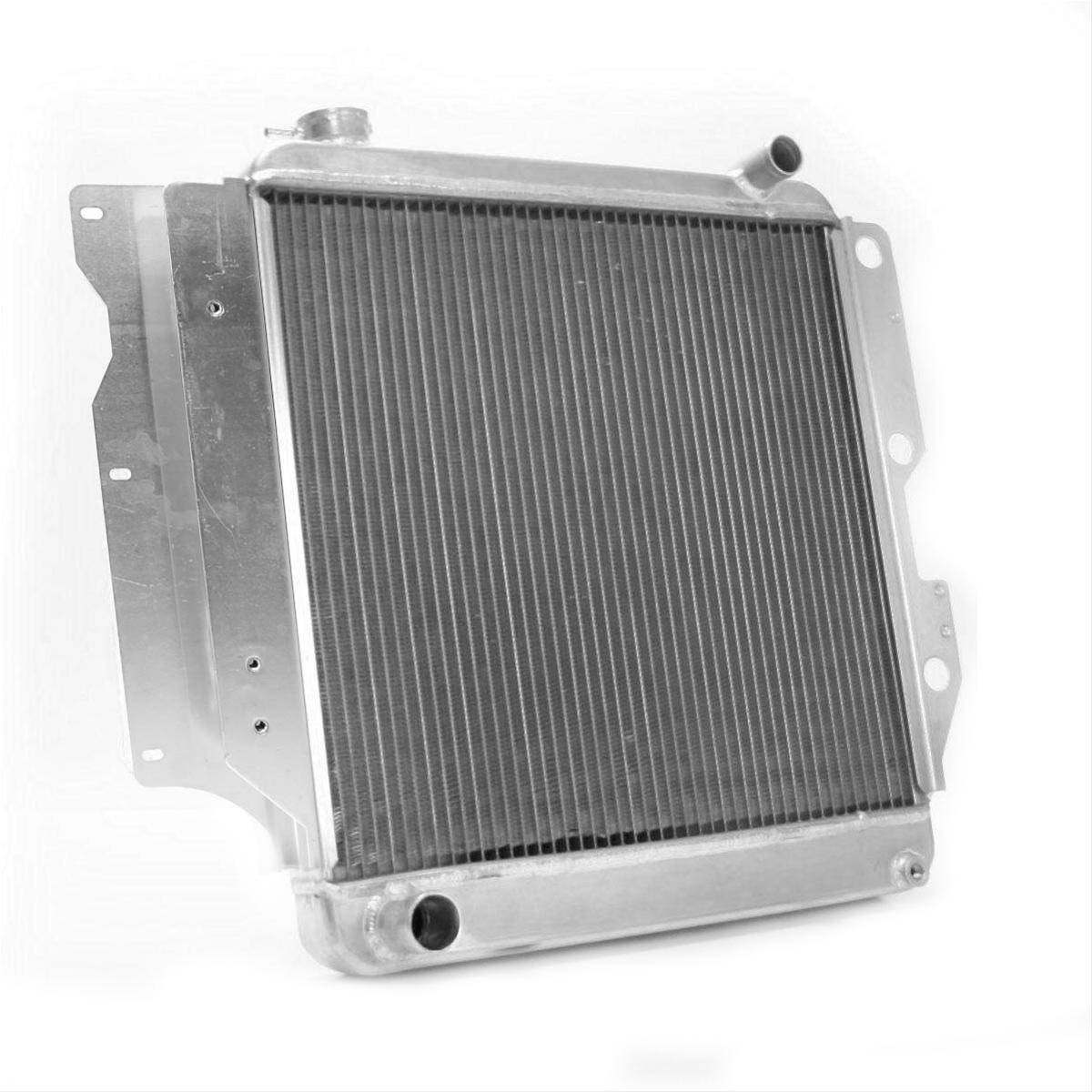 Rear view of the Griffin Heavy Duty Aluminum Jeep Radiator 1987 - 2006