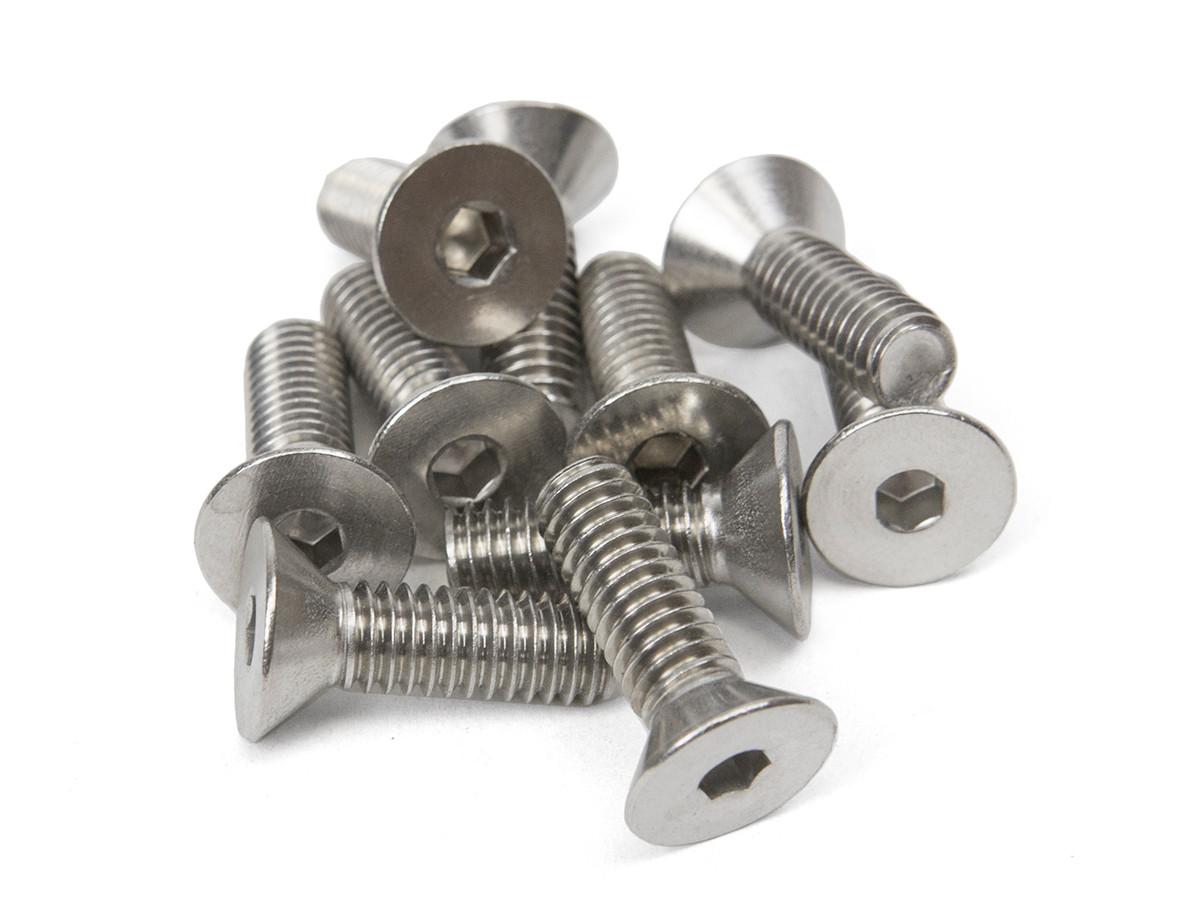 """5/16""""-18 X 1"""" Flat Head Socket Bolts (10 Pack)"""
