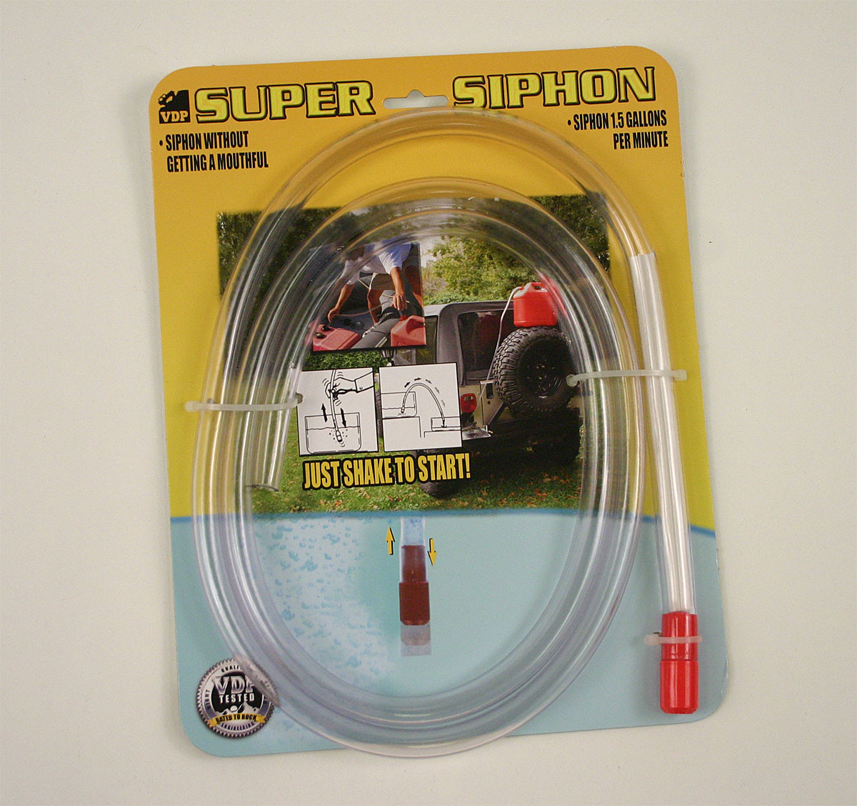 Super Siphon for transferring fuel or water