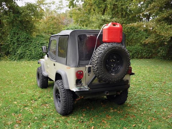 Simple to transfer fuel from gas can to fuel tank with a siphon