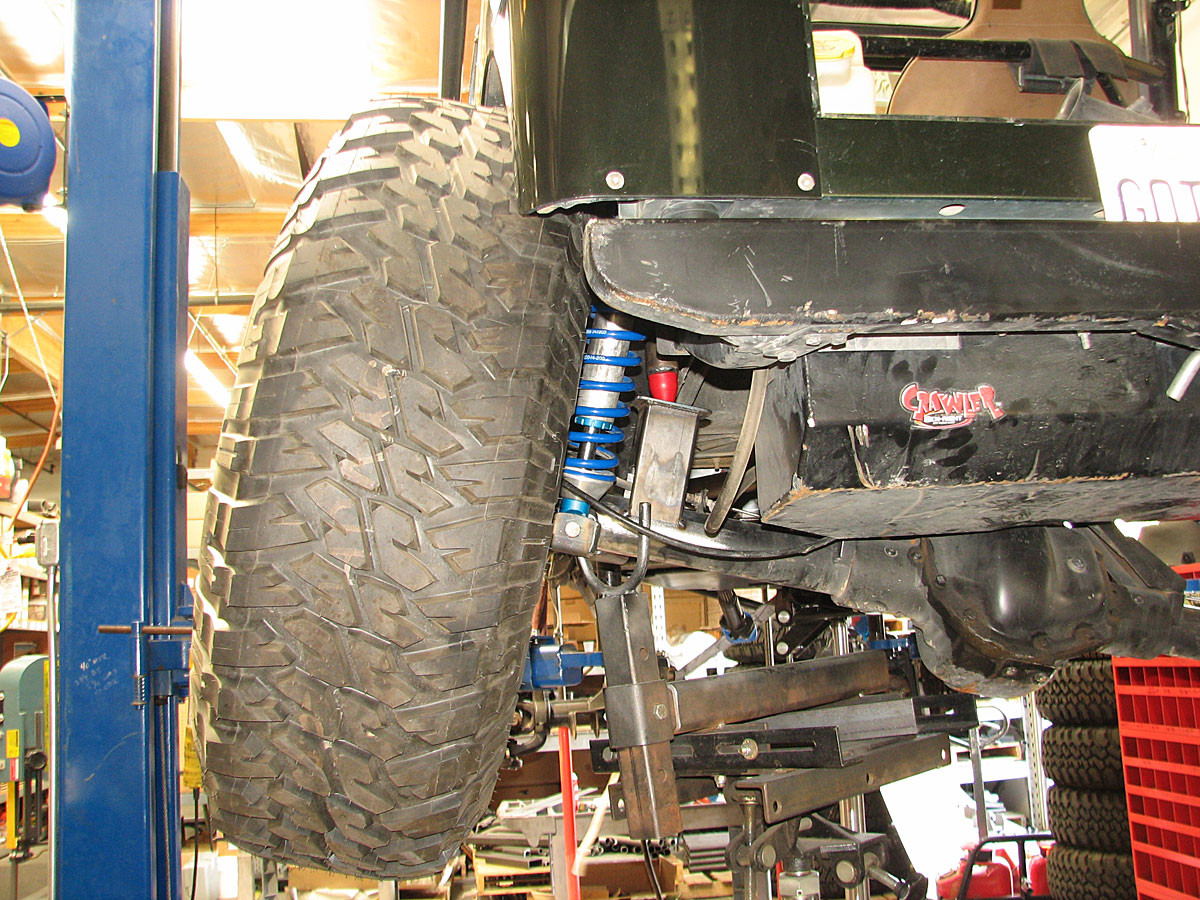 Urethane Bump Stop on GenRight rear suspension