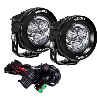 Pair of the Vision X Mini Cannon lights with harness