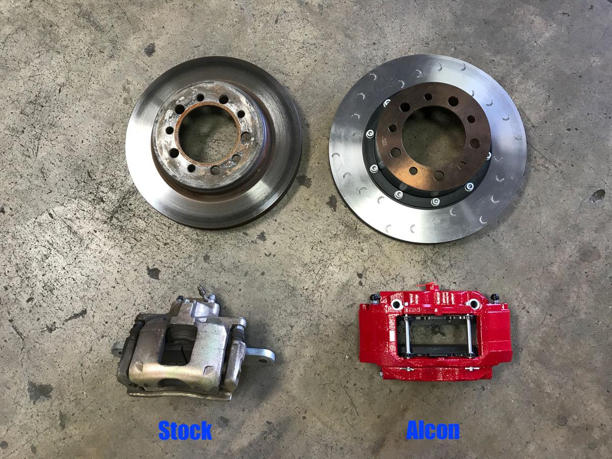 Alcon vs Stock front brakes