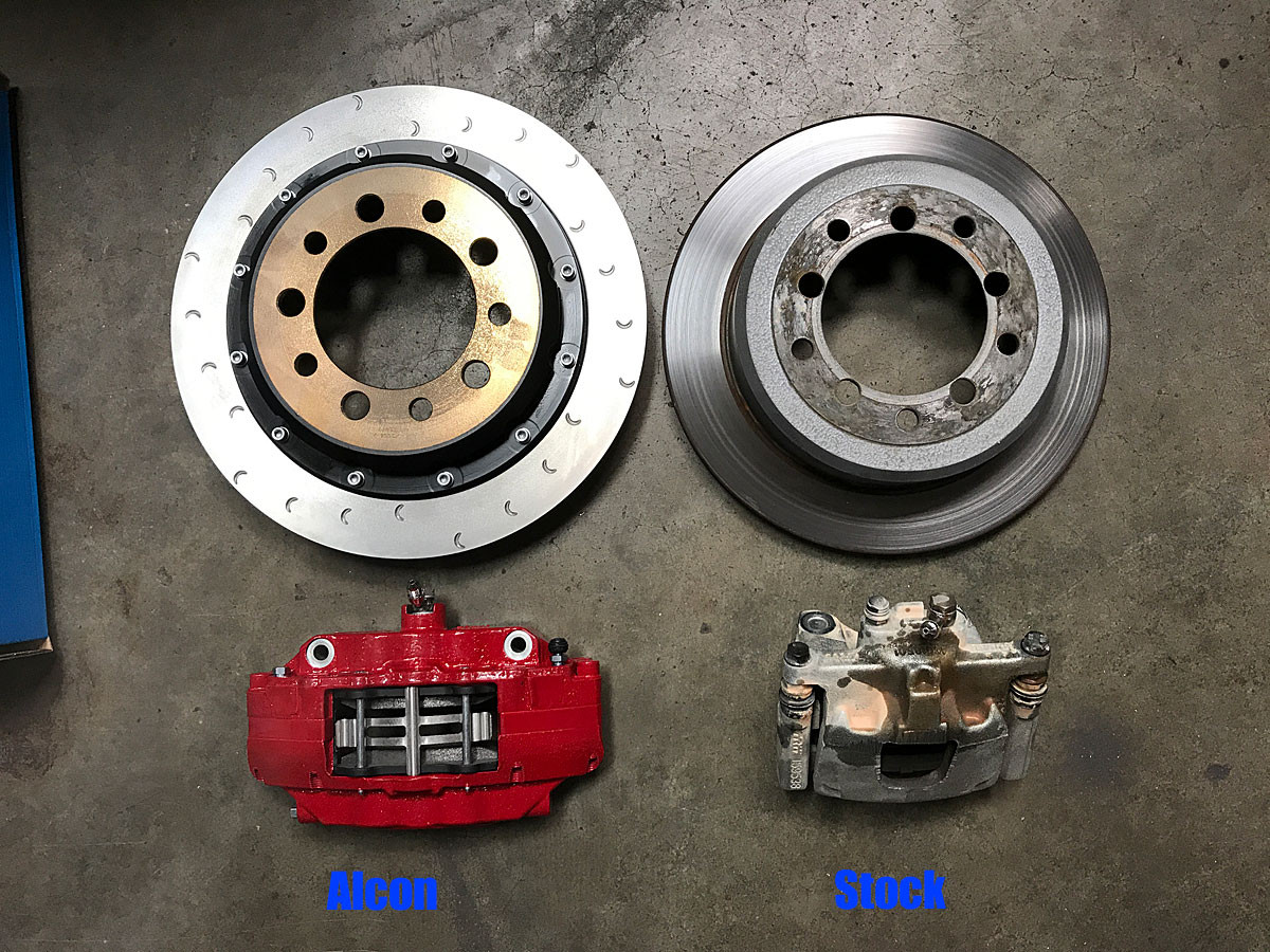 Alcon vs Stock rear brakes