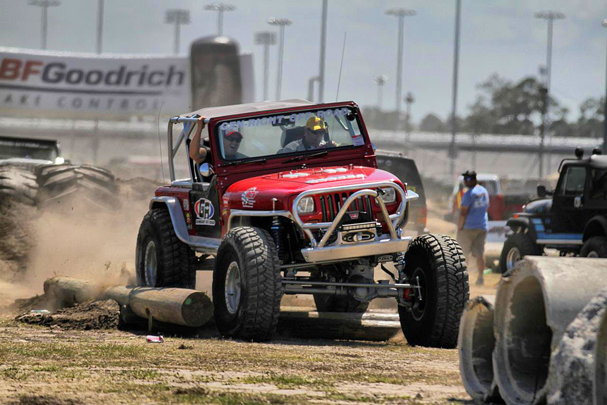 """4"""" EXT rear flare on the Growler YJ at Jeep Beach"""
