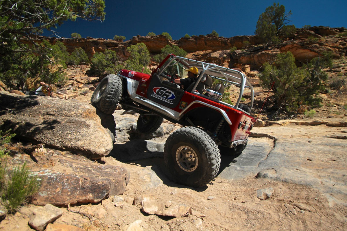 """4"""" EXT rear flare on the Growler YJ in Moab, UT"""