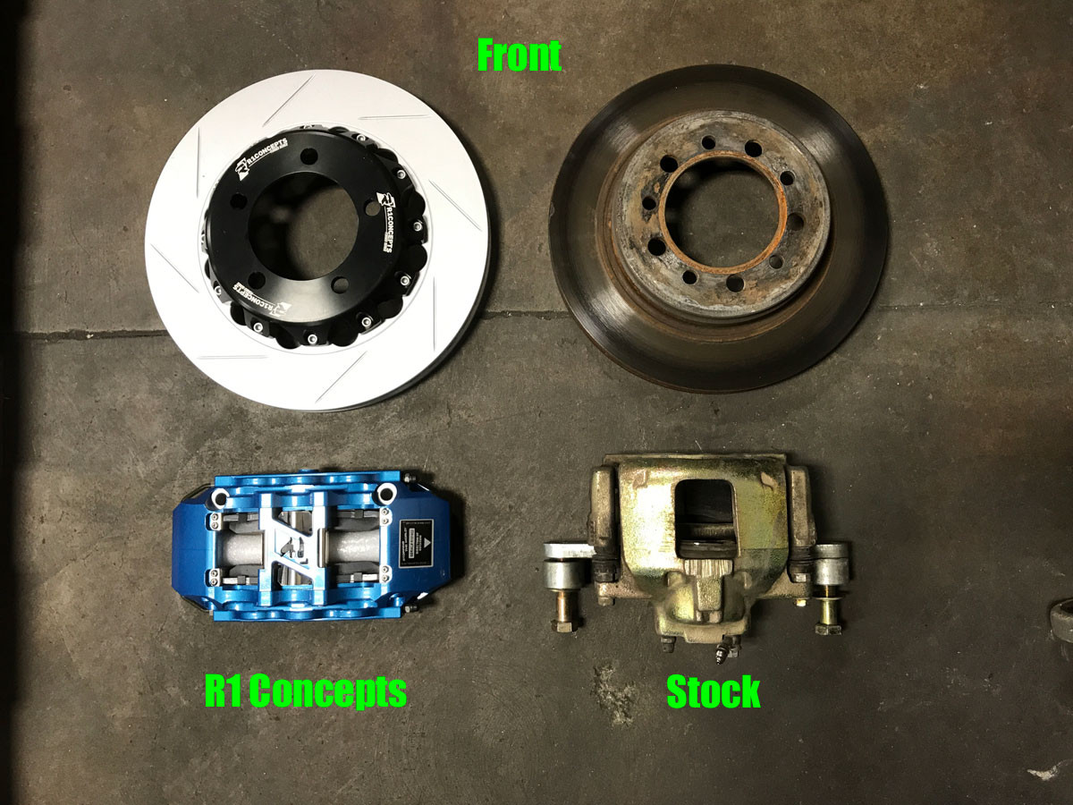 R1 Concepts vs Stock front brakes