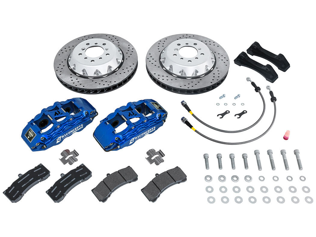 Contents of the R1 Concepts big brake kit for the Currie Rock Jock front axle