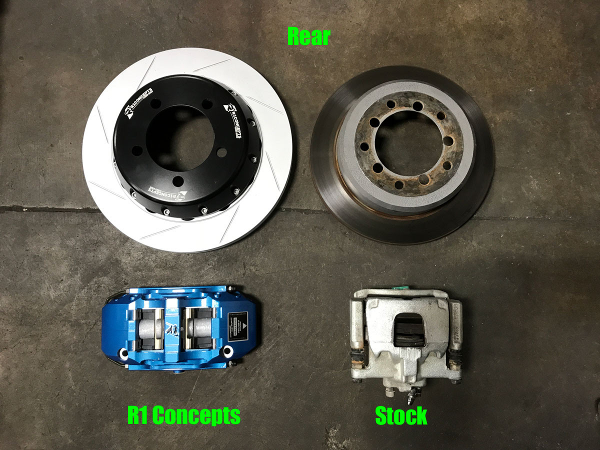 R1 Concepts vs Stock rear brakes