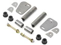 C-Pillar Tie In Kit parts for the Jeep Wrangler YJ, hardware included.