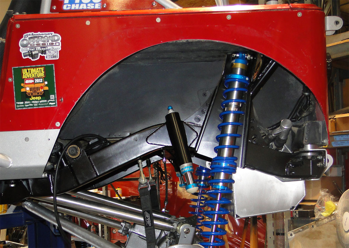 Here you can see how the C-pillar tie-in kit installs into the rear shock tower