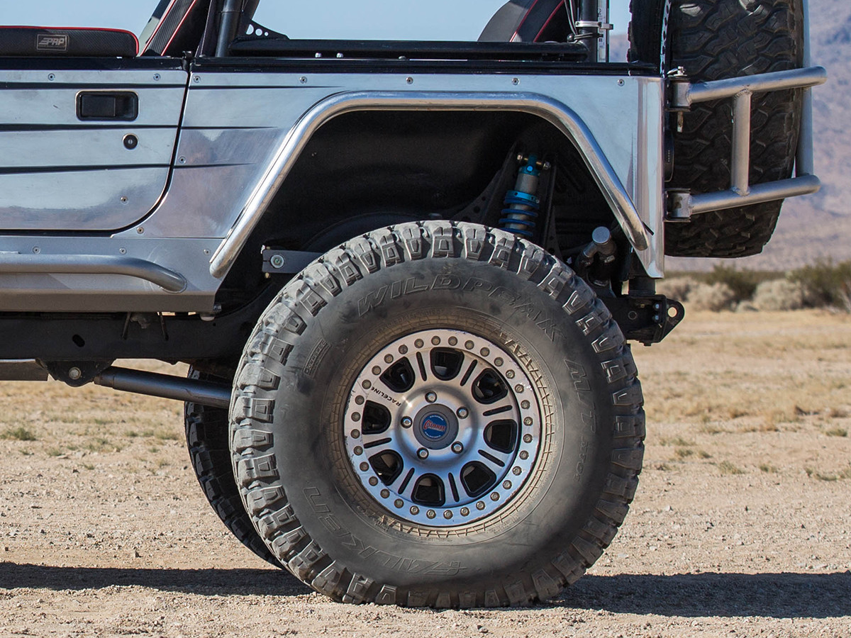 "Jeep TJ/LJ/YJ/CJ 4"" Flare Hi-Fender Rear Fenders - Steel"