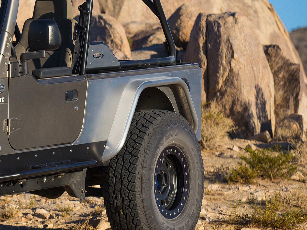 "Jeep TJ/LJ/YJ/CJ 4"" Flare Hi-Fender Rear Fenders (Aluminum Pictured)"