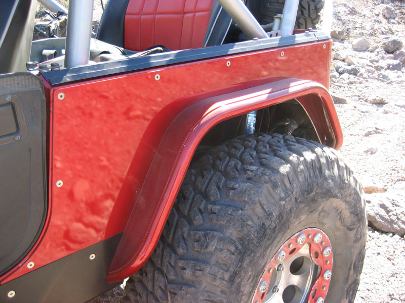 """This is the GenRight 4"""" rear flare with a 40"""" MTR tire."""