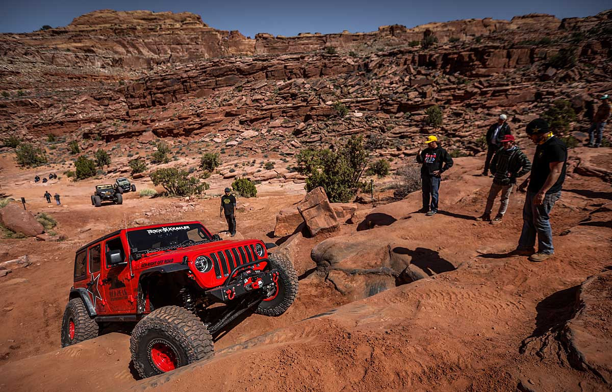 The extra clearance is good for trails like Pritchett Canyon in Moab, UT