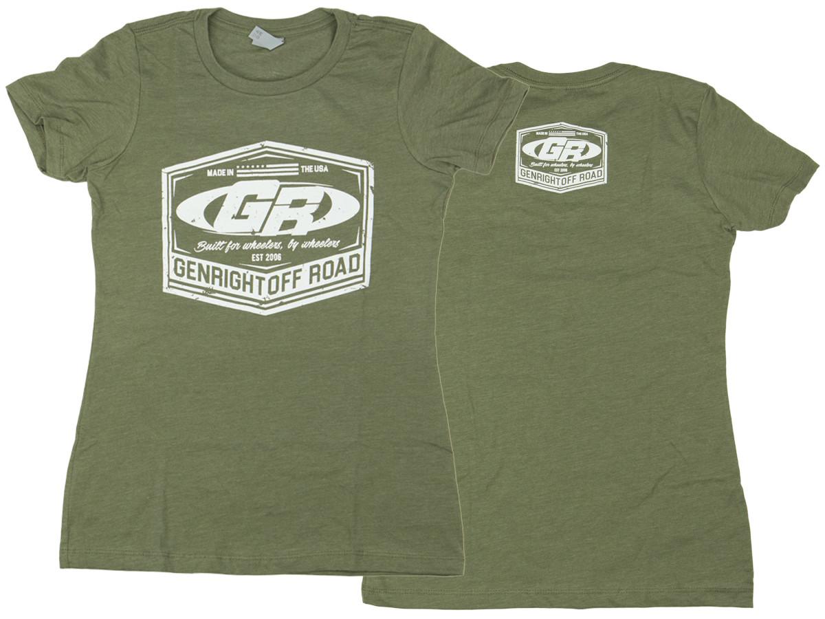 Women's GenRight Classic Emblem Tee (Military Green)