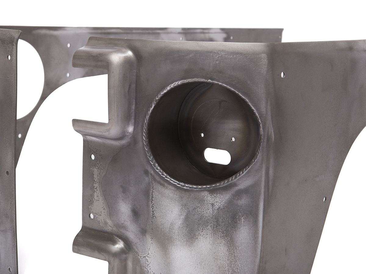 Shown welded into the corner guard