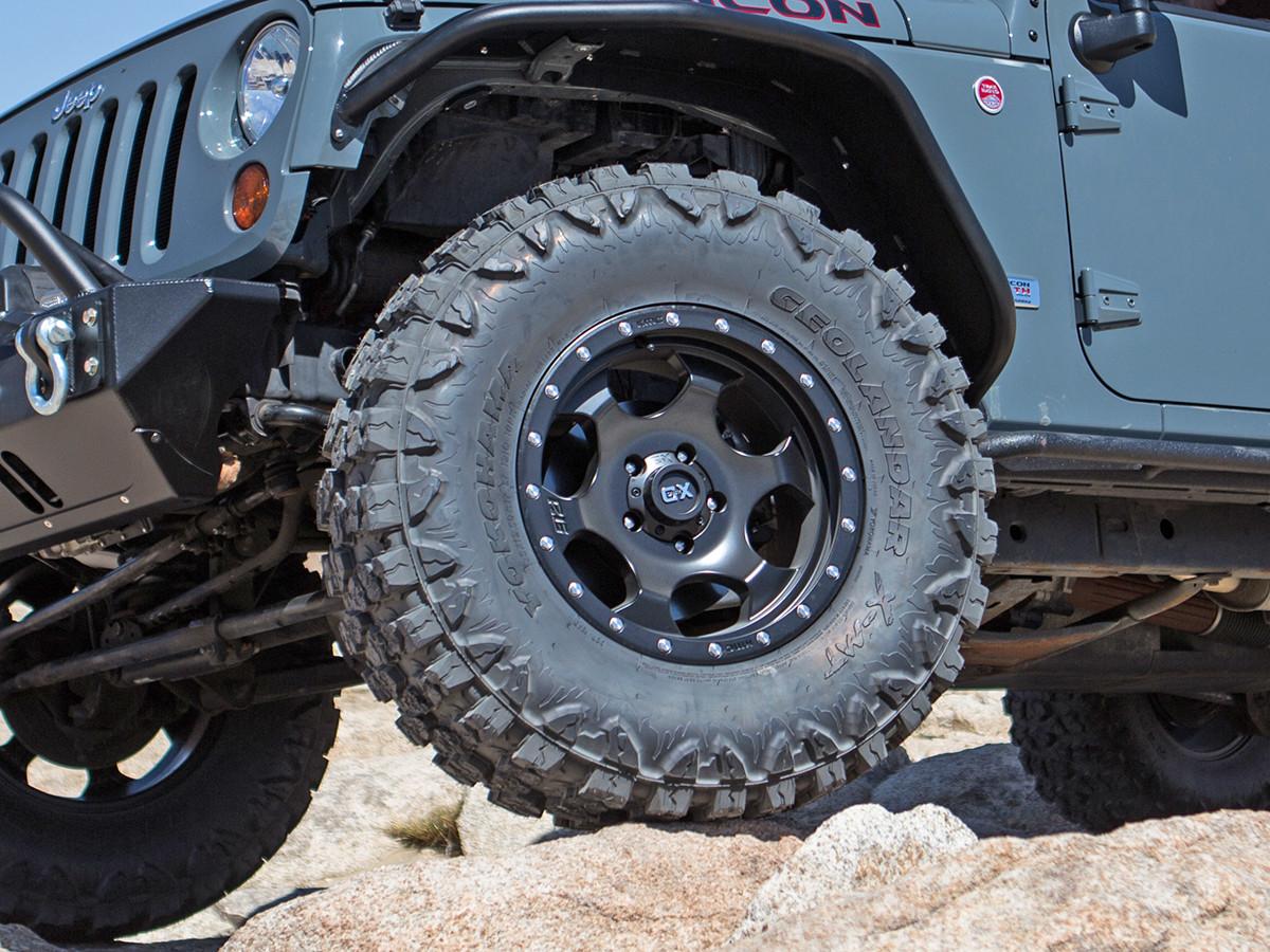 """Shown on a 35"""" Yokohama X-M/T Tire, on a Jeep JKU"""
