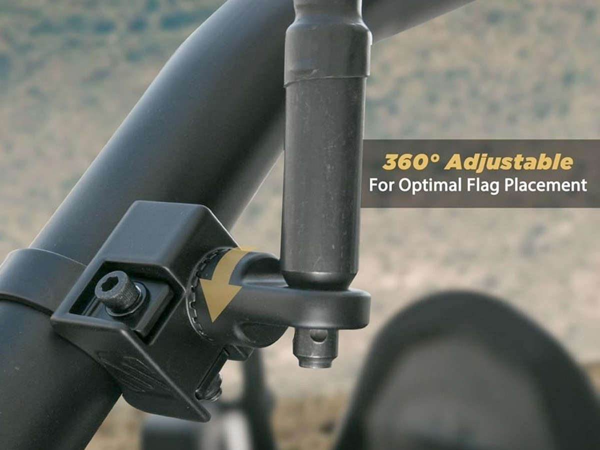 Scosche BaseClamp™ Adjustable Mount with Whip/Flag on it