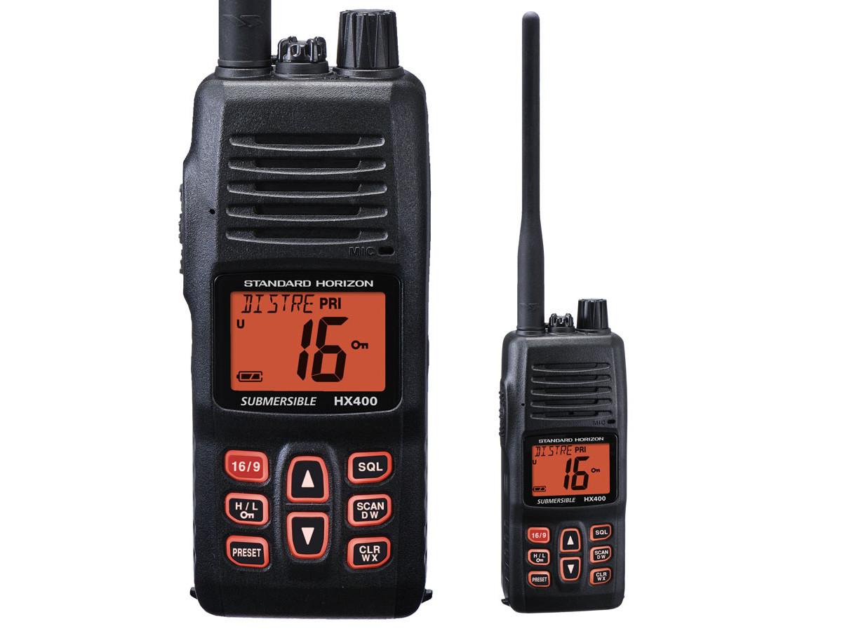 Rugged VHF HX400 Waterproof 5-Watt Handheld Radio