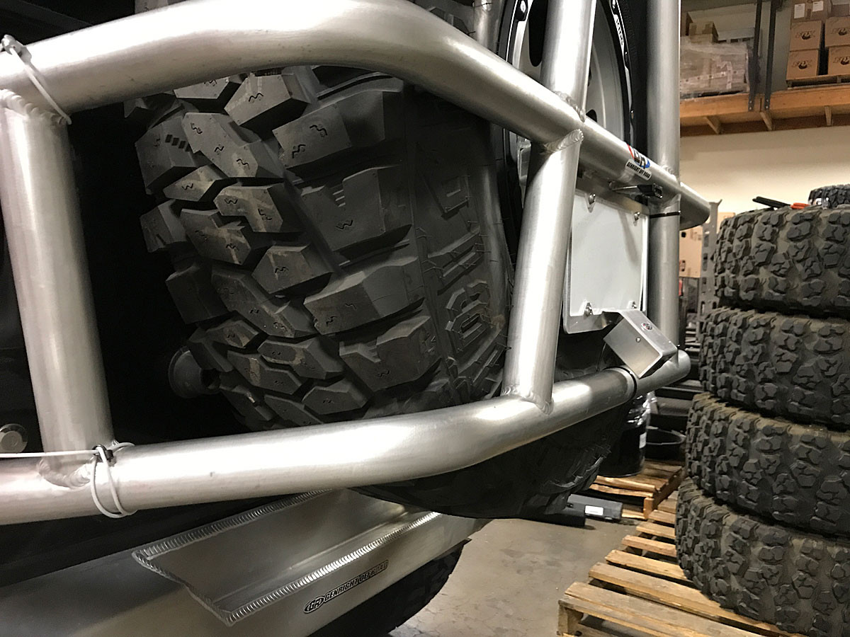 This is how it installs on the GenRight rear tire carrier