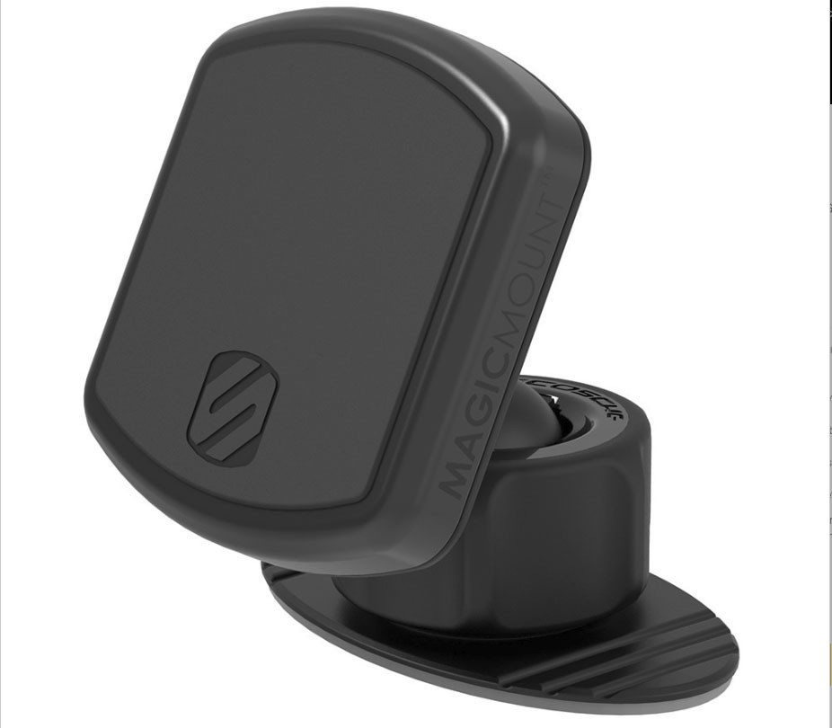 Scosche MagicMount Pro with black trim ring on (included)