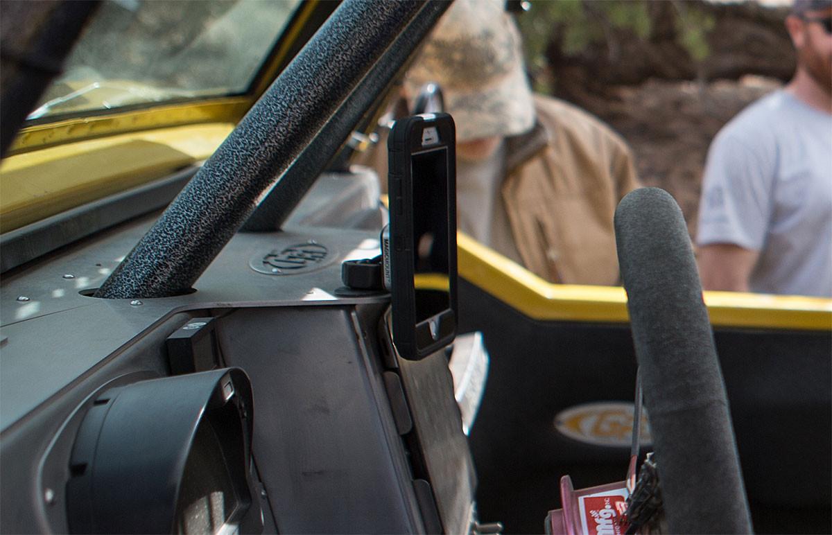 Scosche MagicMount Pro shown here in the GenRight Terremoto Jeep JK