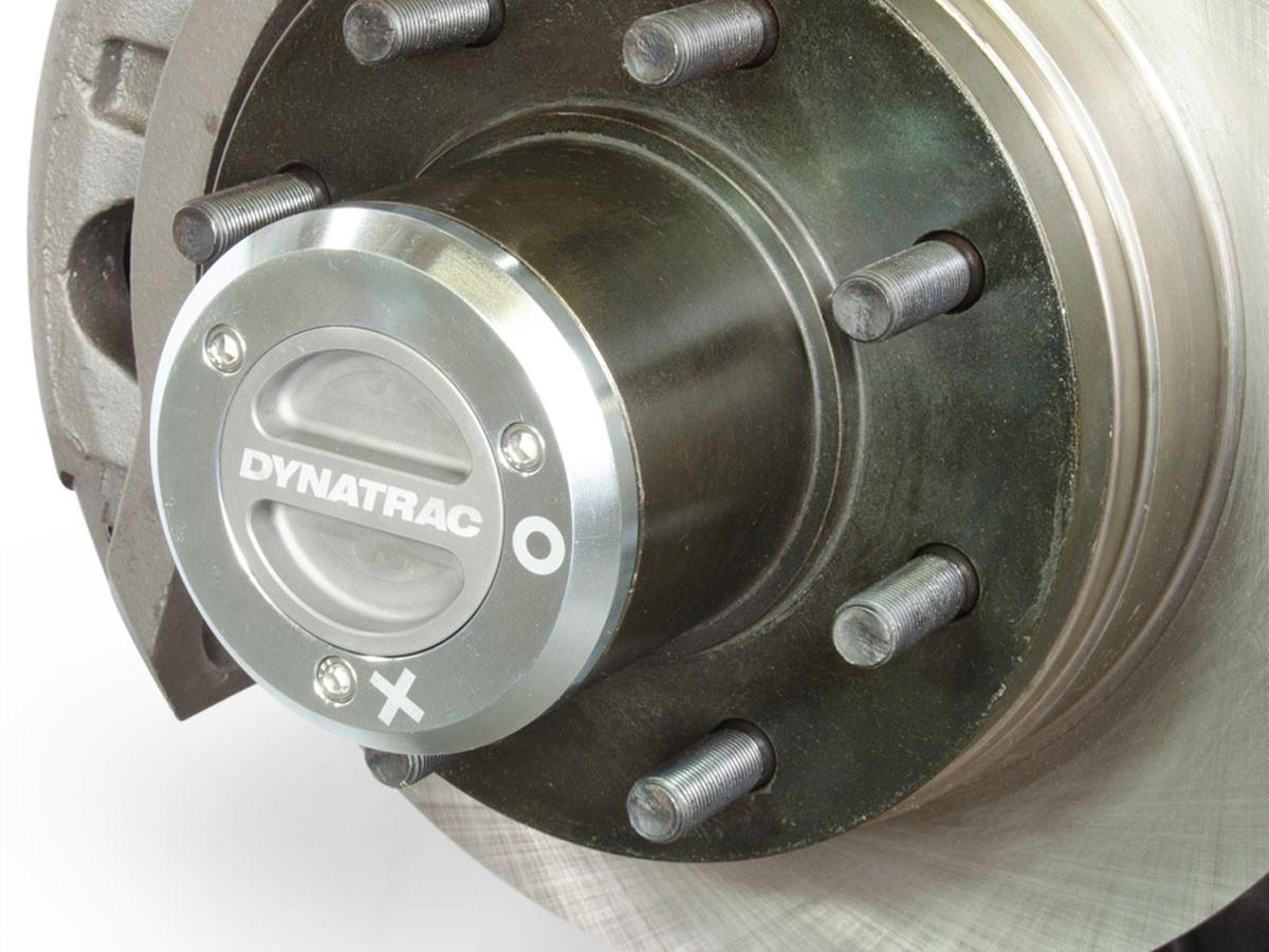 Close up of the Dynatrac locking hub