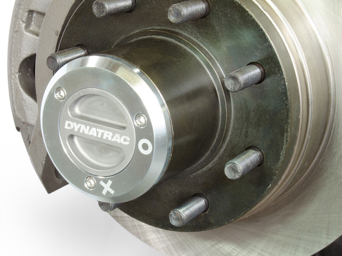 Close up of the Dynatrac locking hub