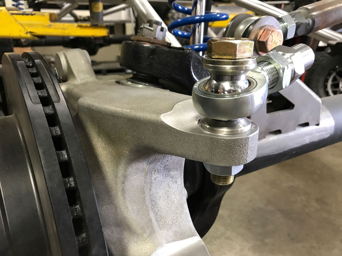 Close up of the forged knuckle with GenRight Steering heim