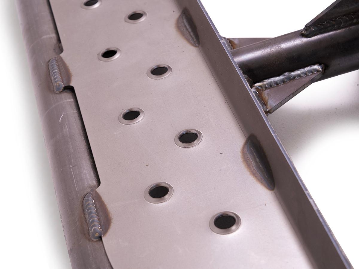 Detail of dimple die step