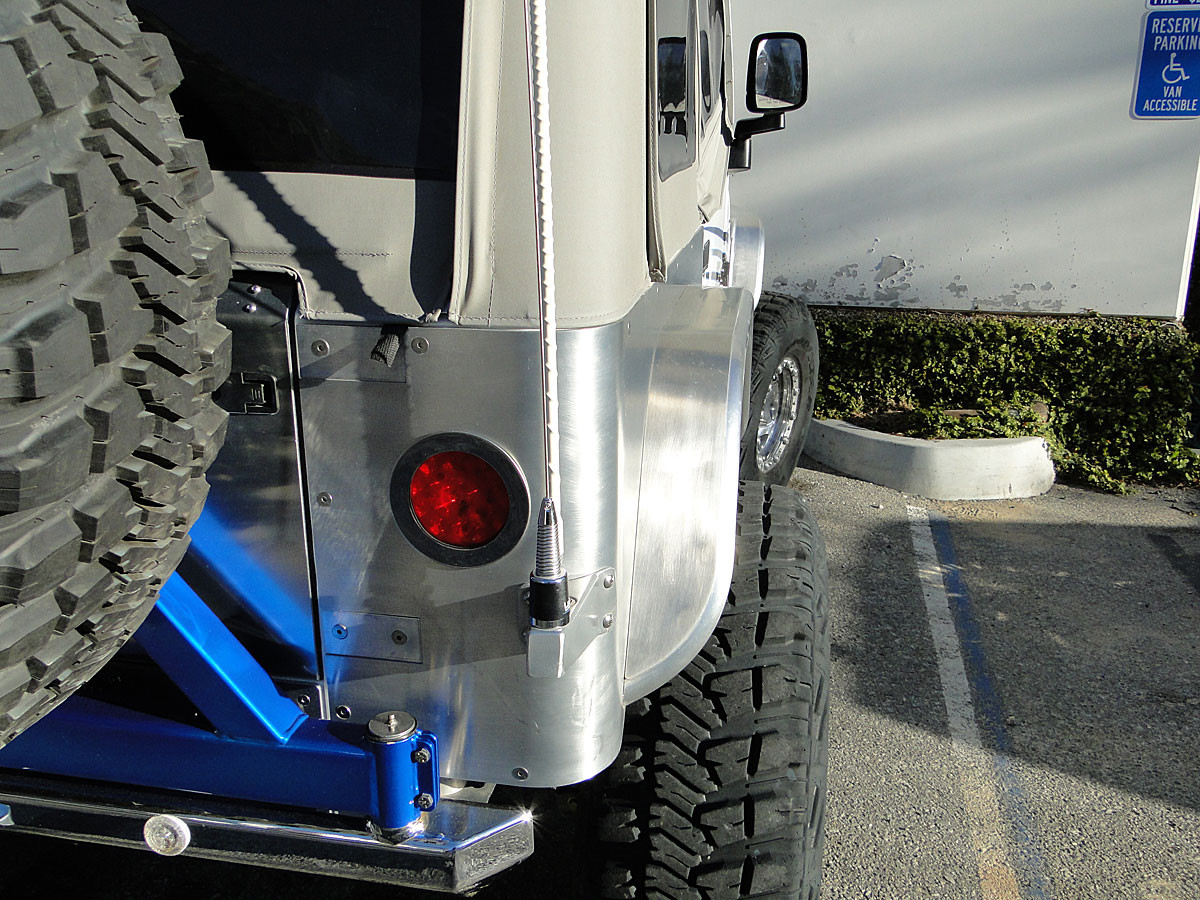 """Rear view of 4"""" wide rear flares"""