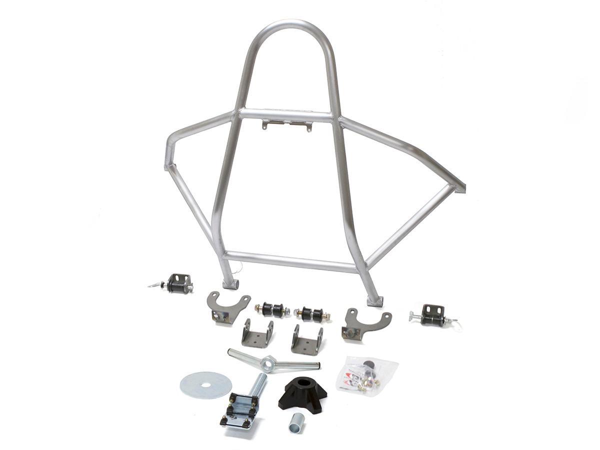 GenRight's aluminum swing down rear tire carrier for the Jeep TJ