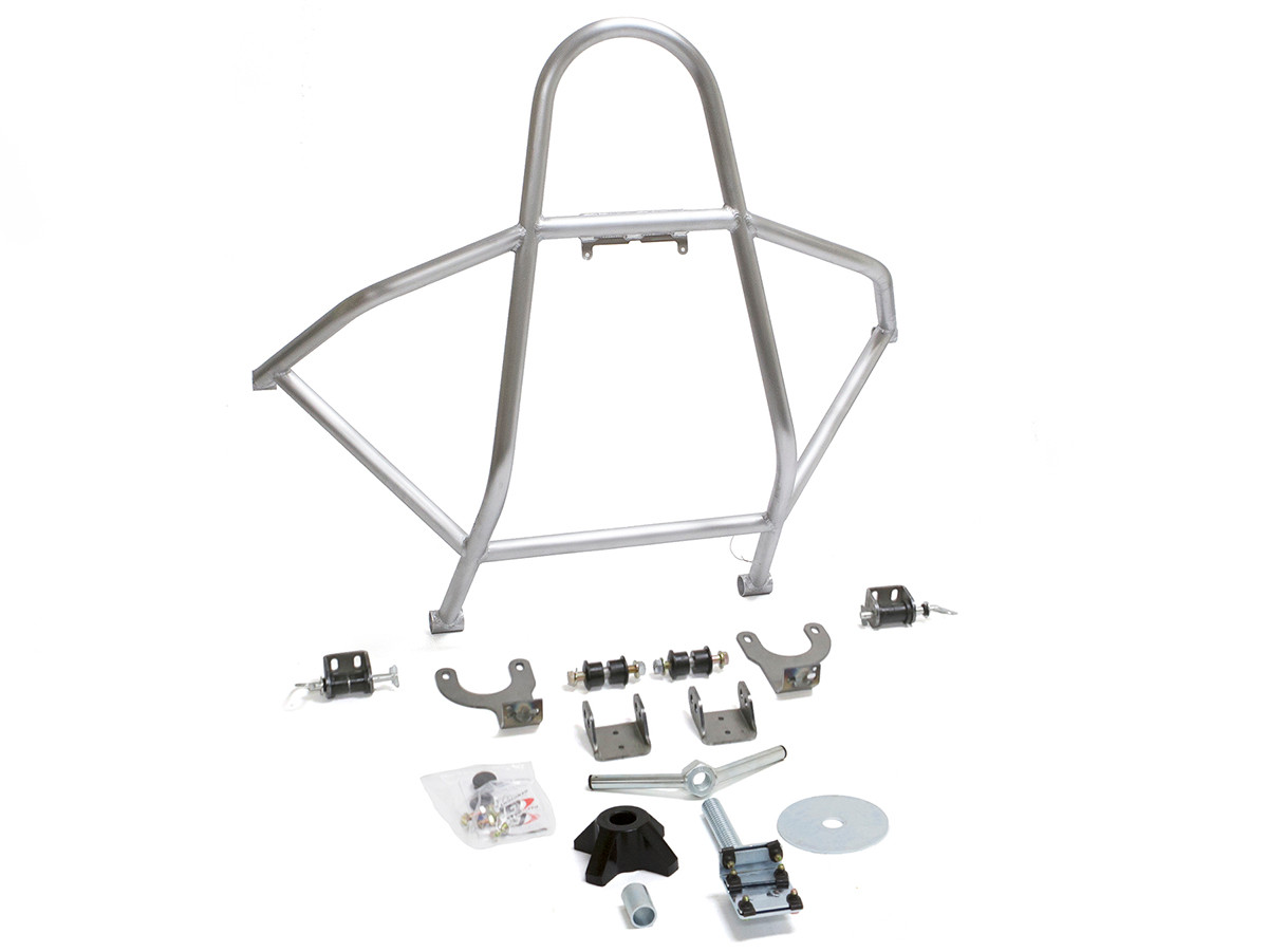 Aluminum GenRight swing down rear tire carrier for the Jeep YJ