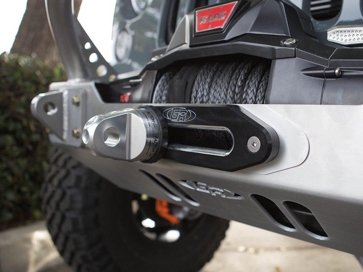 GenRight's billet aluminum fairlead for synthetic winch lines