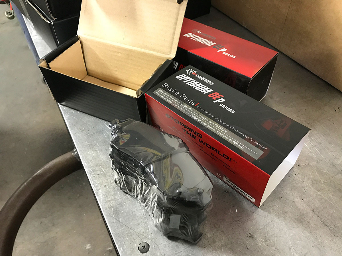 New R1 Performance pads out of the box