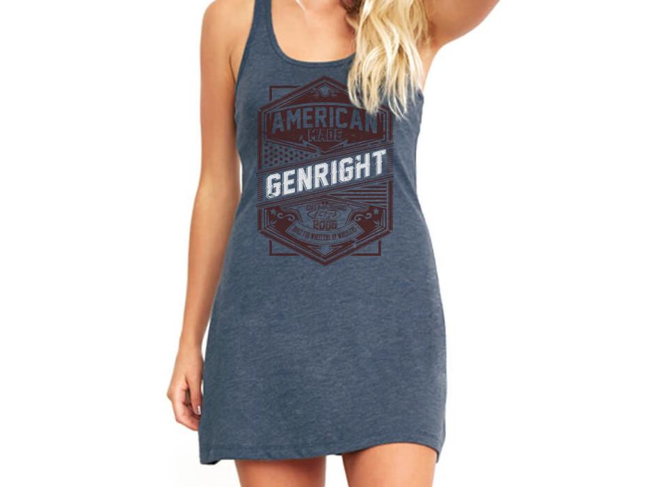 GenRight American Made Women's Racerback Tank Dress