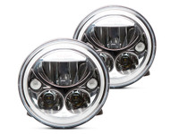 "Vision X 7"" Vortex LED Headlight Set (Chrome)"