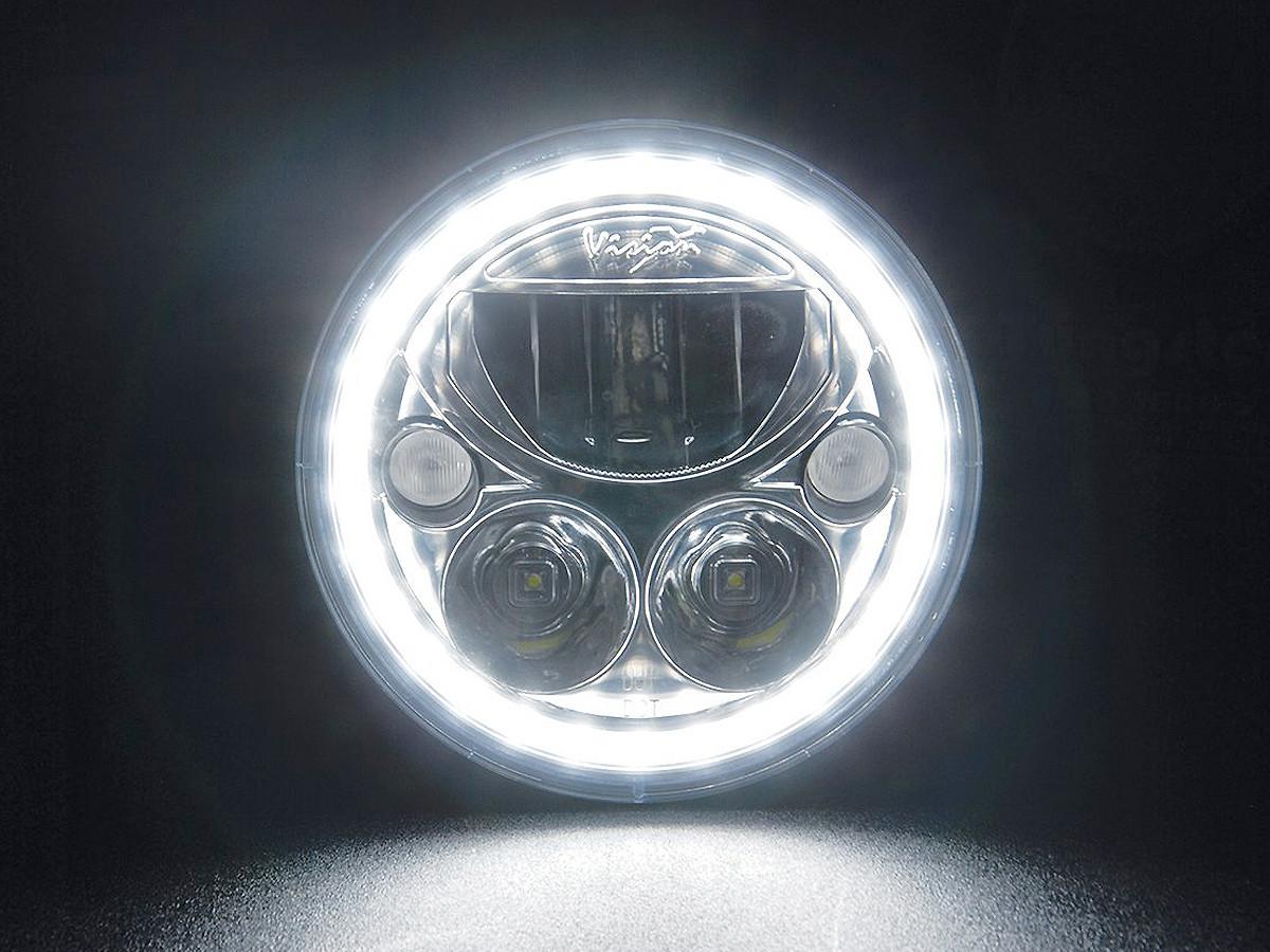 "Vision X 7"" Vortex LED Headlight (Halo Lit)"