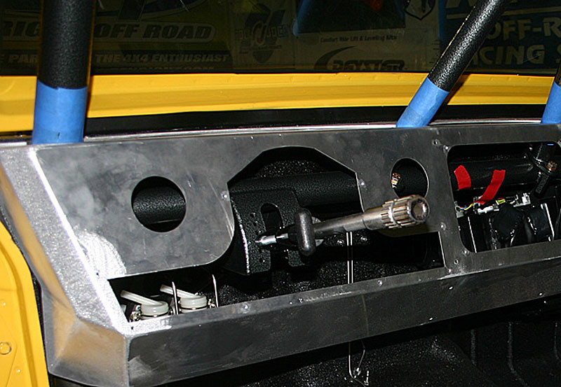Adjustable Tilt Wheel mounted in the GenRight aluminum dash
