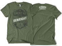 GenRight American Made Military Green Mens SS Tee