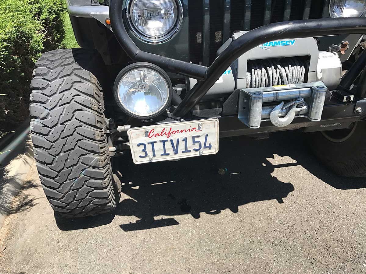 Shown here on a Jeep TJ front bumper