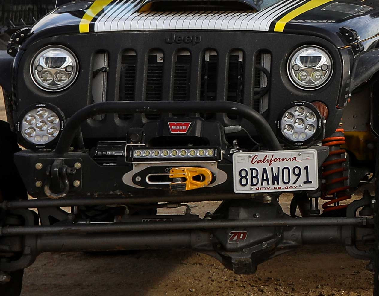 Shown here on the GenRight Terremoto Jeep