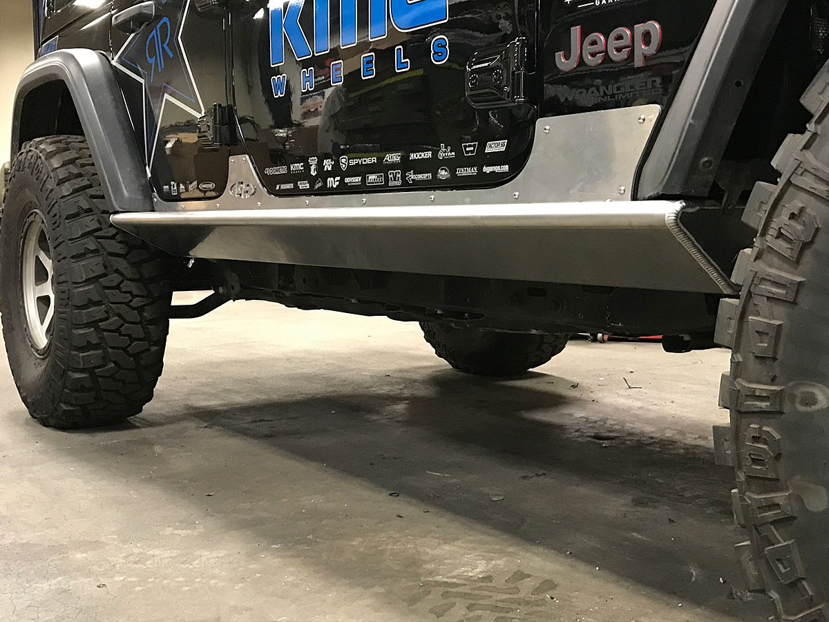 Boatside style rockers offers the most ground clearance and ties into body mounts